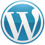 WordPress logo blue