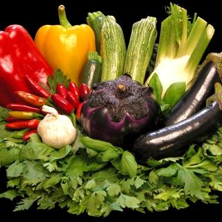 Rainbow of veggies