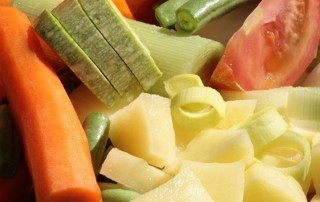 Assortment of raw vegetables