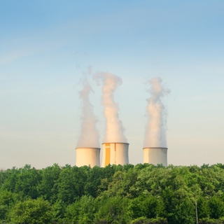 Smokestacks spewing pollution