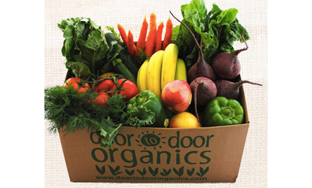 Fresh fruits and vegetables from an organic victory garden