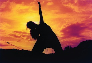 Sunset and Woman