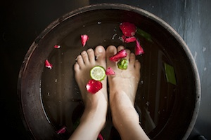 Spa Treatment on Feet
