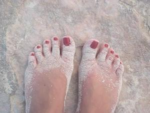 Feet in Sand
