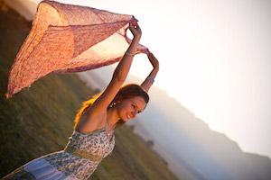 Woman at Sunset