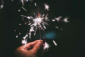 Hand & Fireworks
