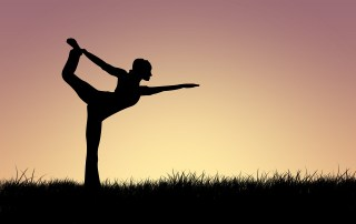 Woman Yoga Silhouette Pose
