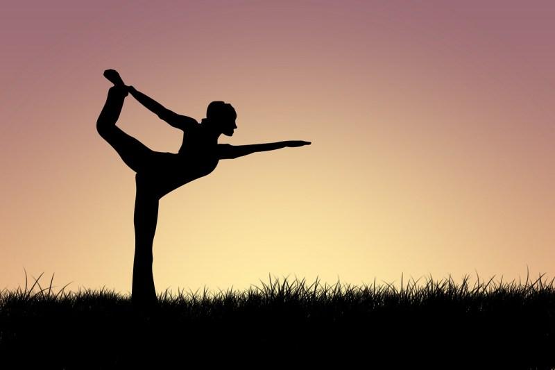Woman Yoga Silhouette Pose