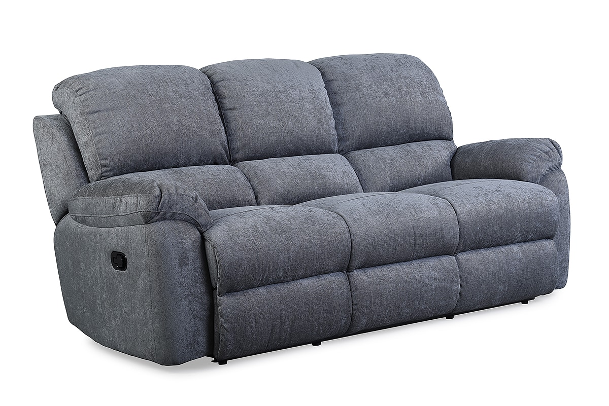 leona 3 seater recliner sofa pull out bed couch charcoal michael murphy home furnishing collections