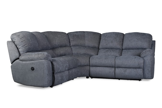 leona 3 seater recliner sofa american leather sectional bed charcoal corner electric michael murphy home furnishing