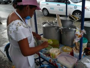 corn & tamale stand
