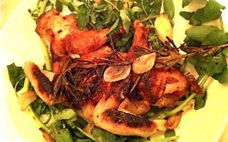 spatchcocked poussin