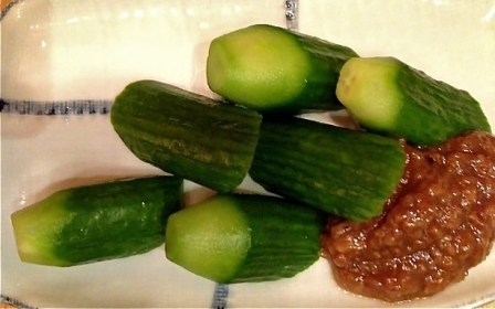 morokyu - cucumber with soybean paste