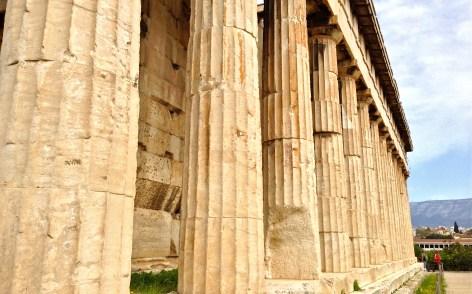 temple of hephaestus - side view