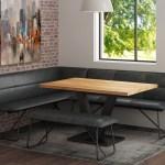 Larson Table Corner Bench Set Michael O Connor Furniture