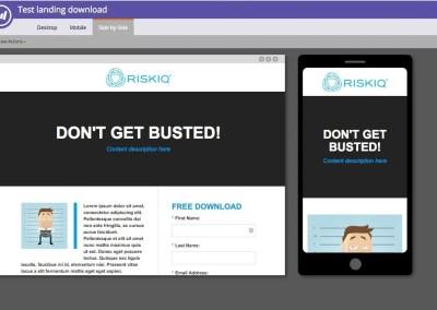 MMarketo guided landing page , responsive web development