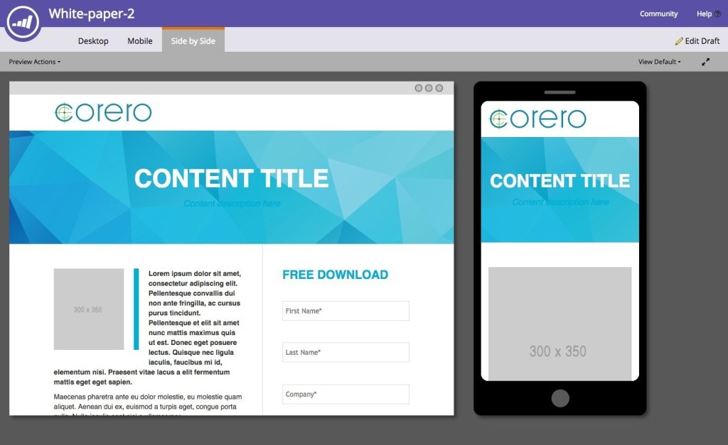 Guided Marketo Template Design for Whitepapers
