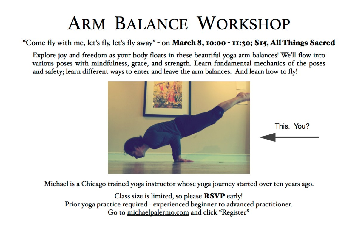 Arm Balance Workshop Ketchum Yoga