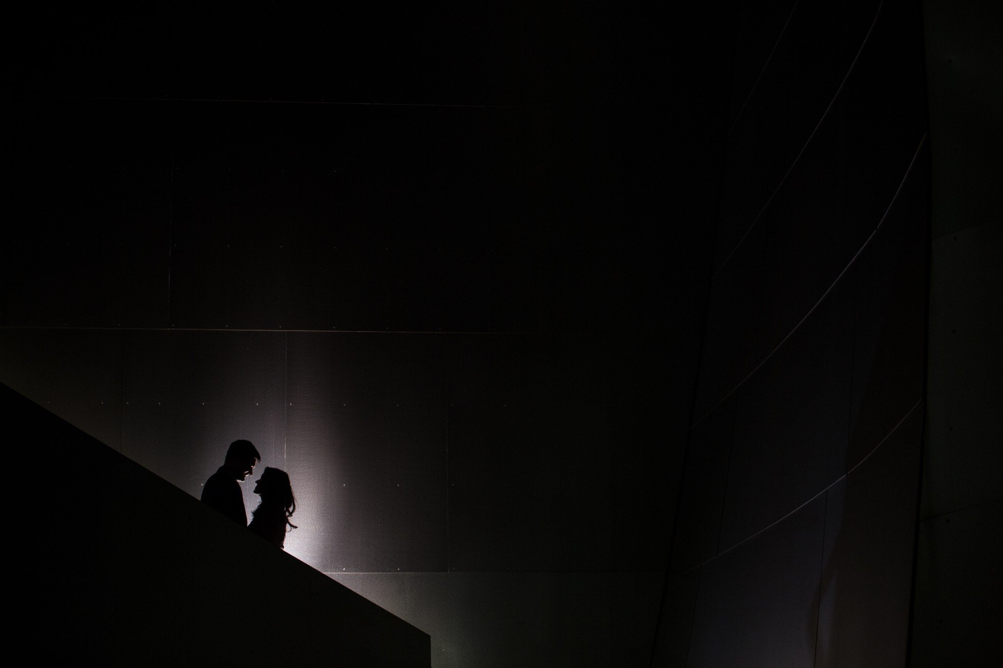 couple at walt disney concert hall