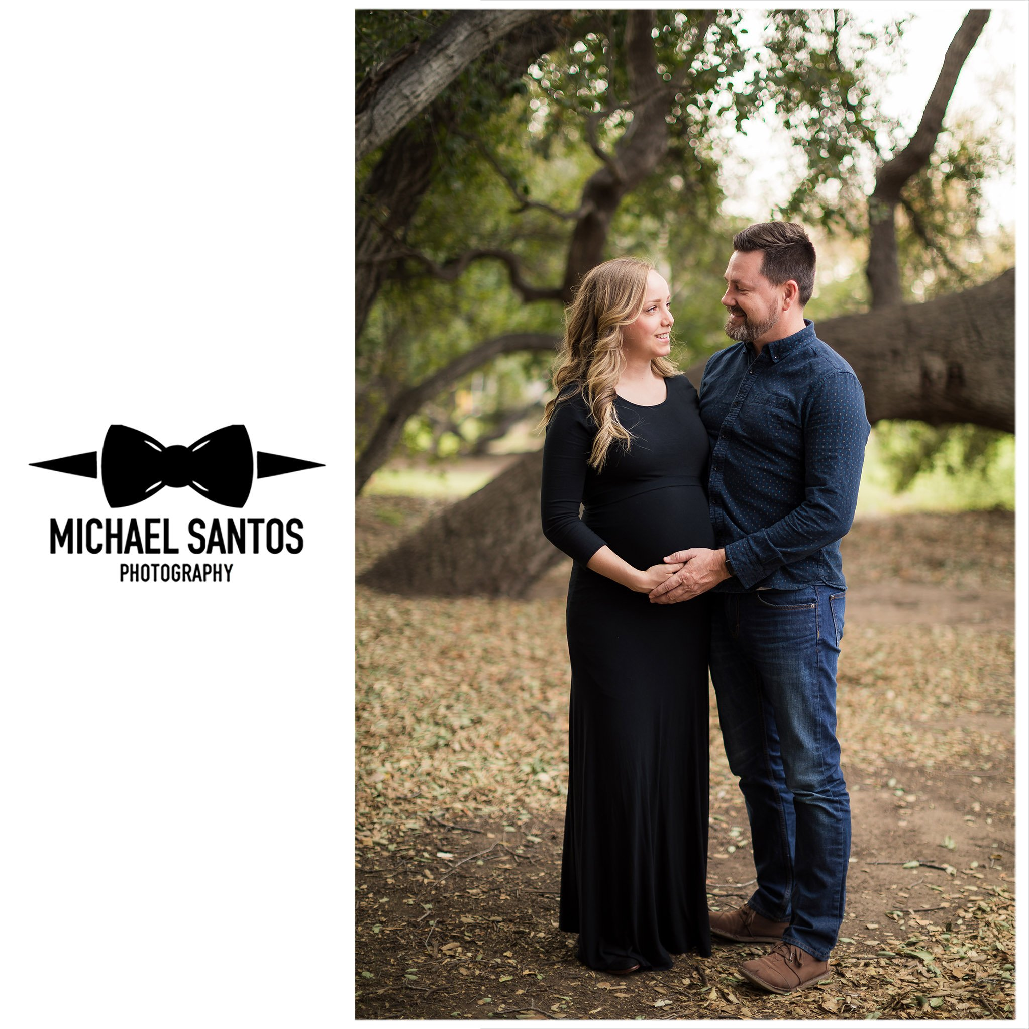 Maternity photo session with a husband and wife at Irvine Regional Park.