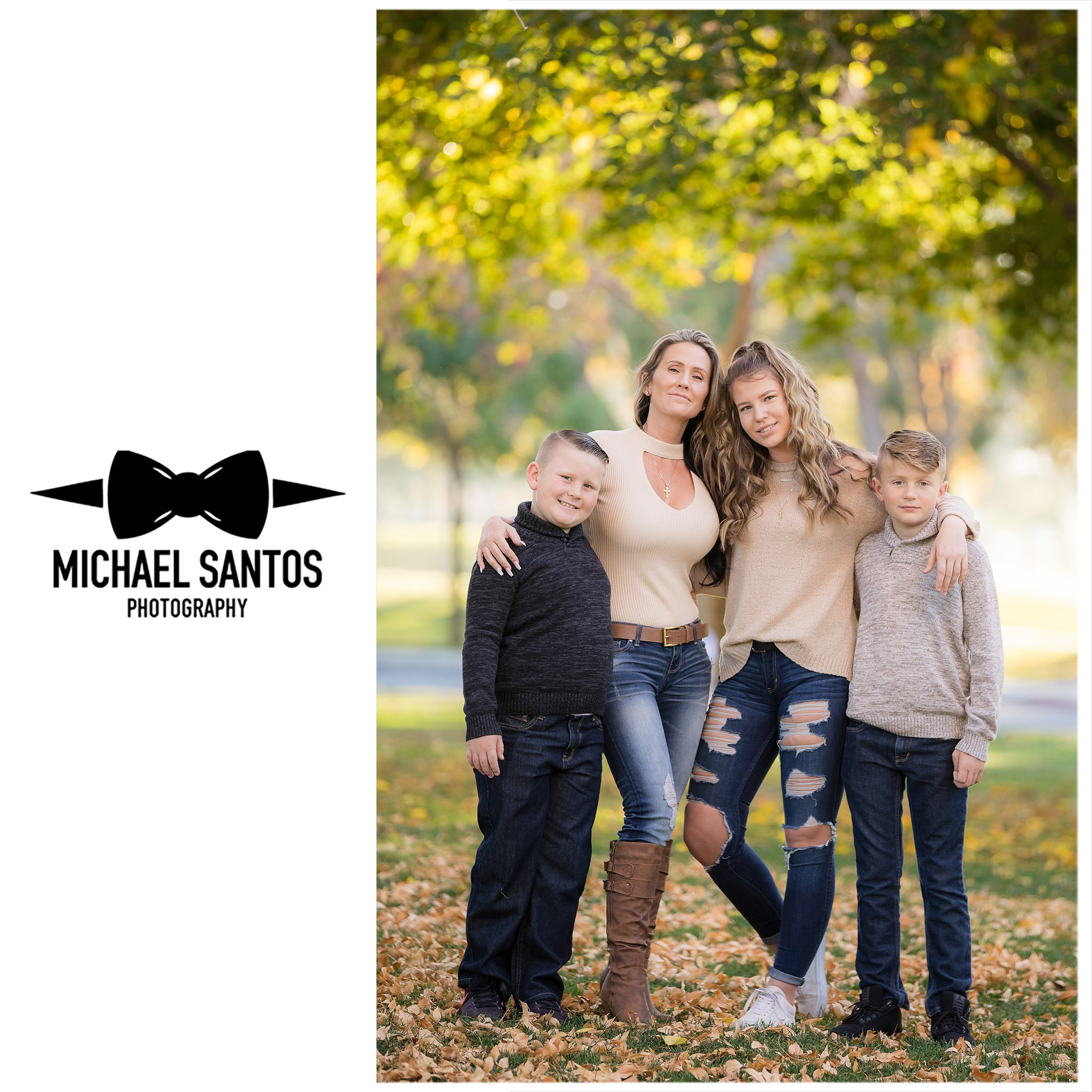 mother standing with her children during their lancaster family photography session