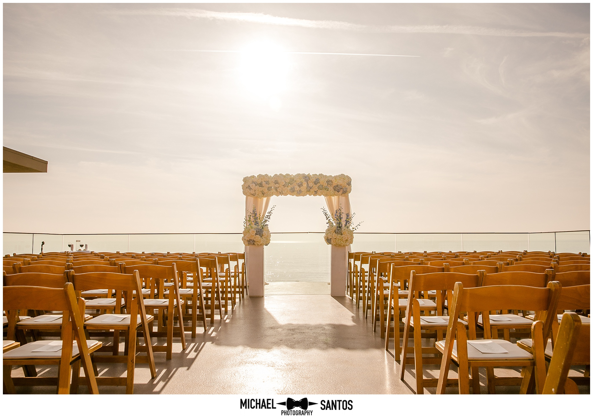 ceremony site at surf and sand resort