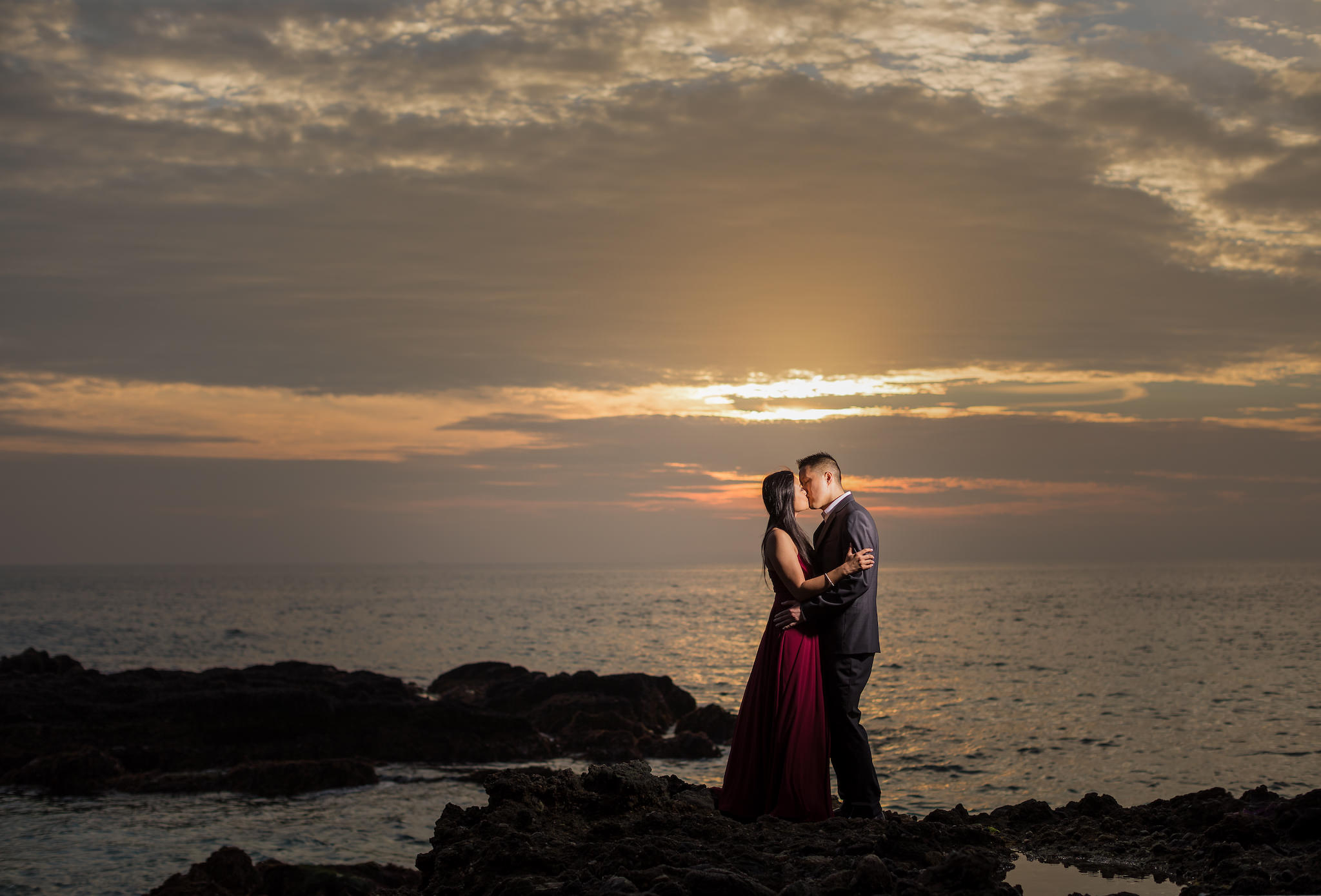 orange county engagement location - victoria beach