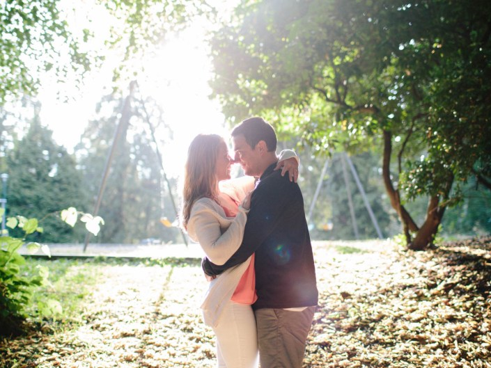 stanley park rose garden engagement photos