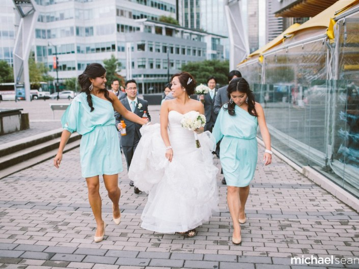 emily and preston wedding walking photo