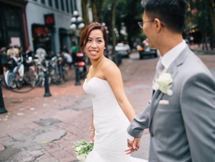 emily and preston's wedding photos in gastown