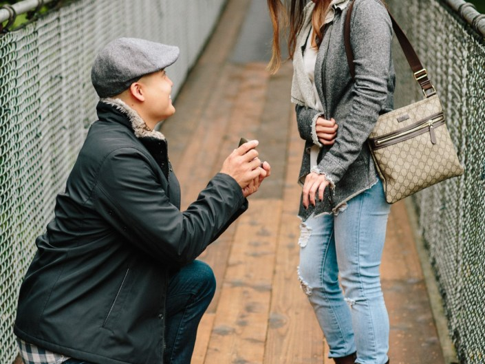 capilano suspension bridge surprise engagement proposal