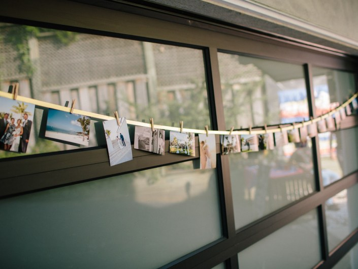 wedding reception ideas string of photos