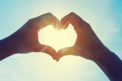 hands heart sun love