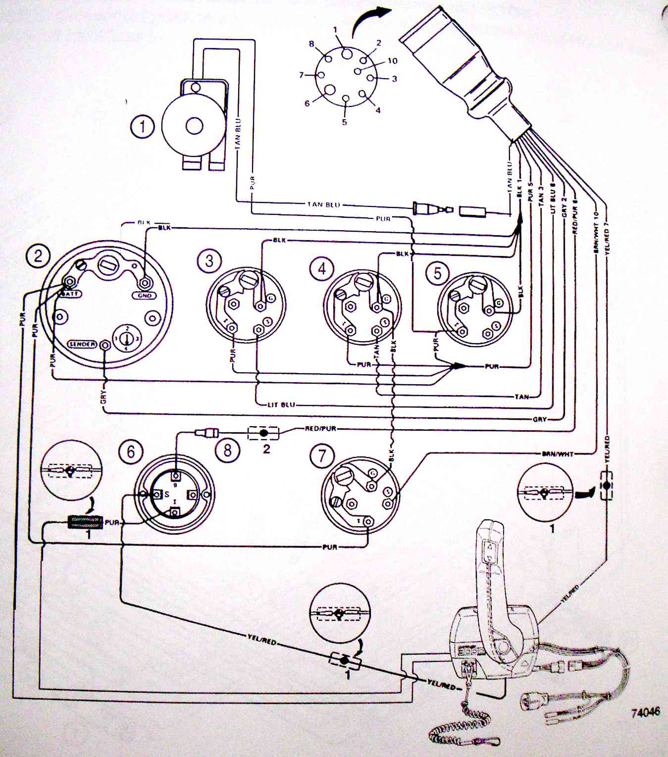 mercruiser 4 3 alternator wiring diagram start stop motor control michael's tractors (simplicity and allis chalmers garden tractors) - mefi-3 ecm ...