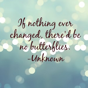 change butteflies