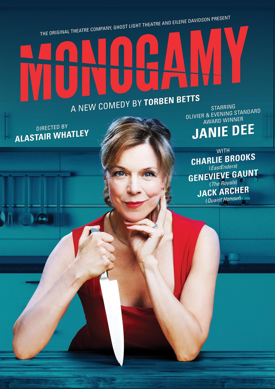 Janie Dee in Monogamy for OTC / Park Theatre