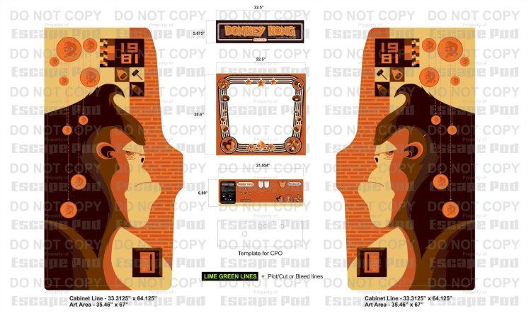 Donkey Kong Arcade Machine: Art Proof