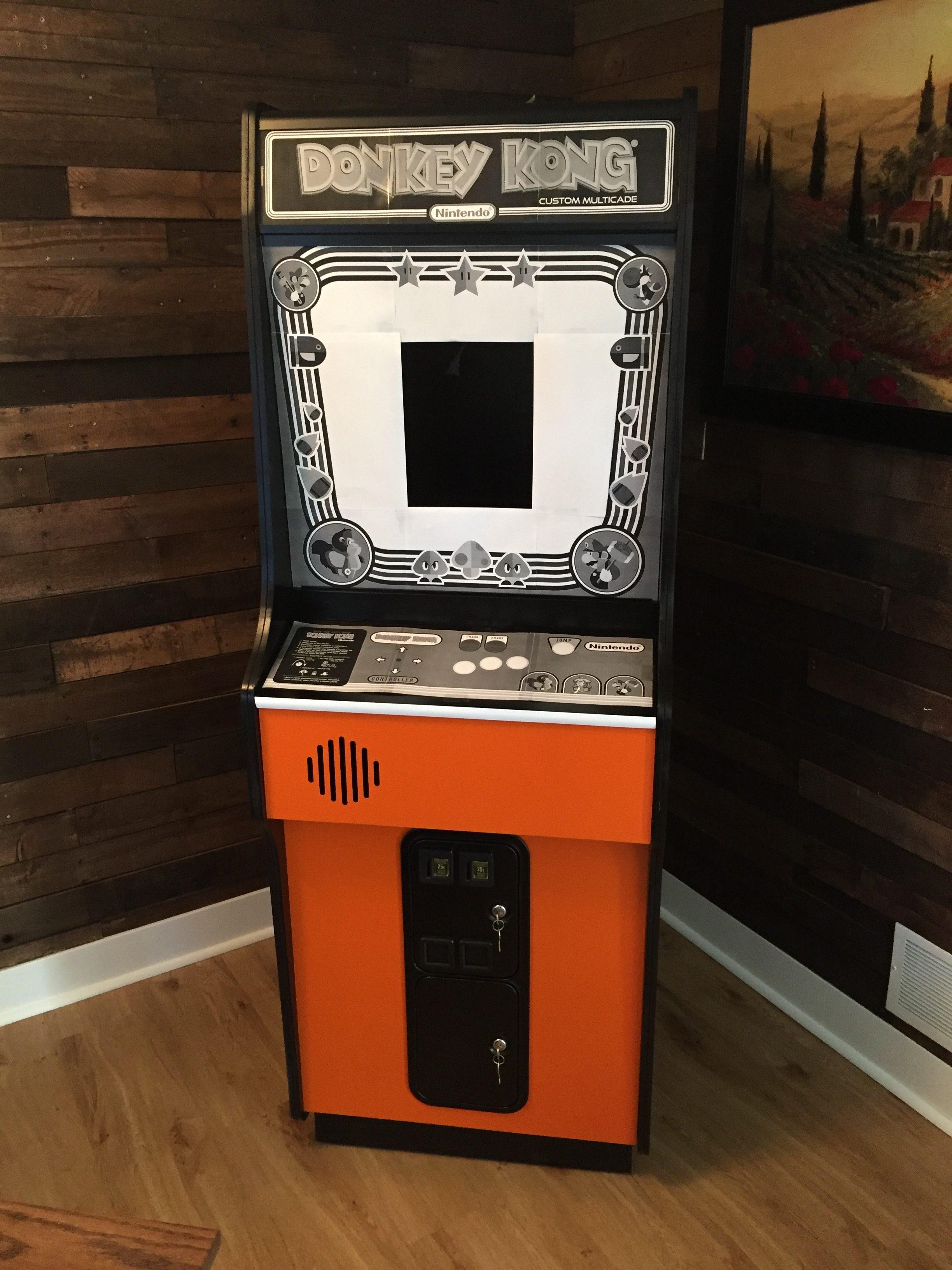 Donkey Kong Arcade Machine: Bezel Resized
