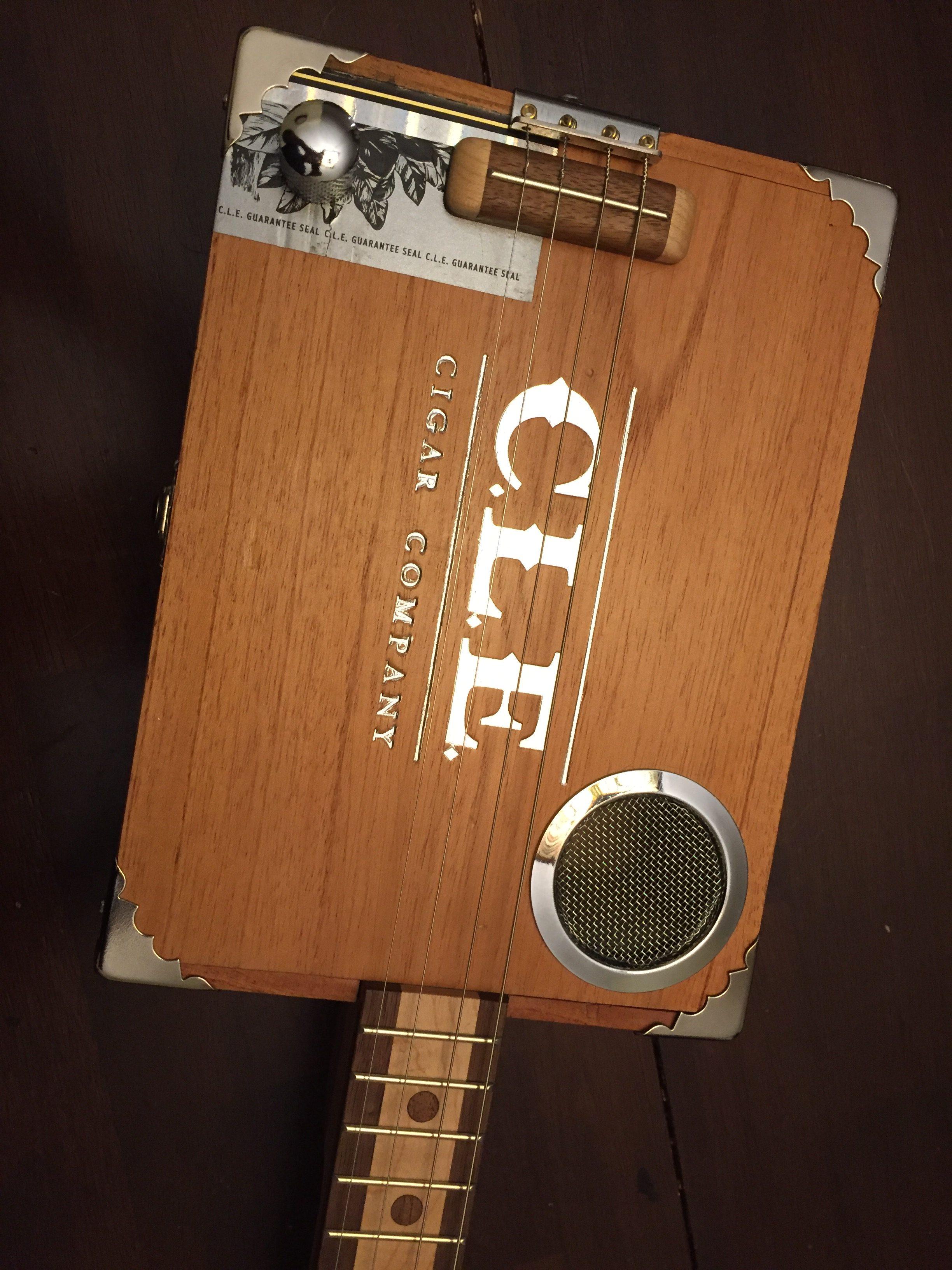 CLE Cigar Box Guitar Build - Top view