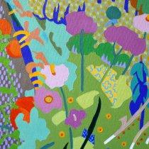 Michal KOrman: Les jardins potagers à Bitchū, huile sur toile 80x120 cm, 2017