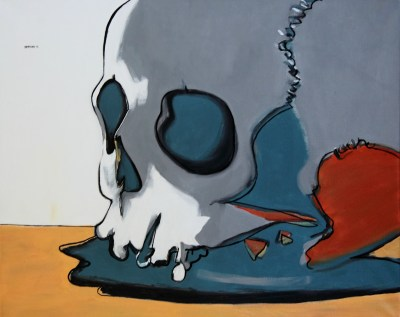 Michal Korman: Skull (Denis est mort) oil on canvas, 65x81 cm 2013 Paris