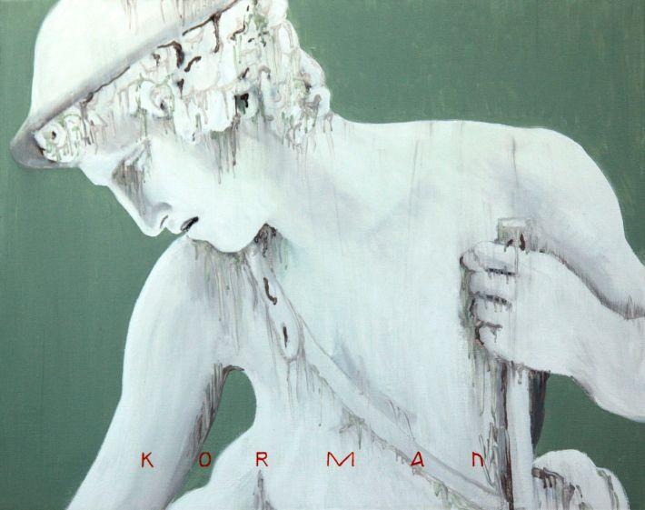 Michal Korman: CB -1826, oil on canvas, 40x50cm, Paris 2015
