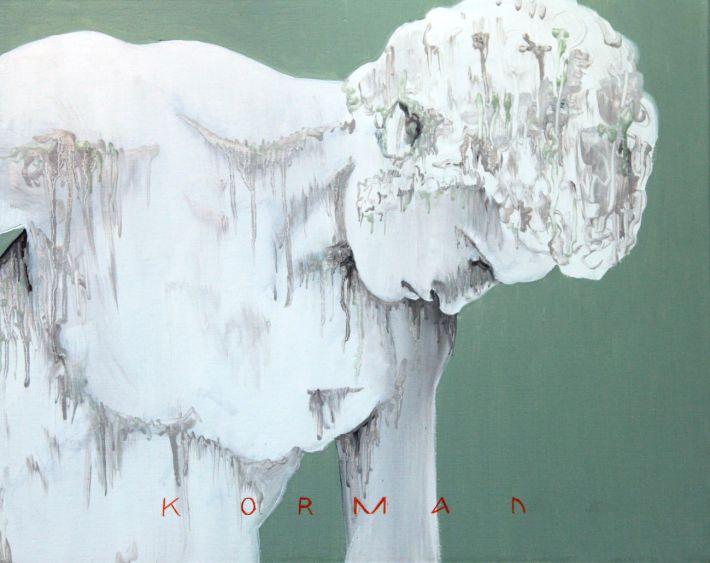 Michal Korman: GM -1779, oil on canvas, 40x50cm, Paris 2015