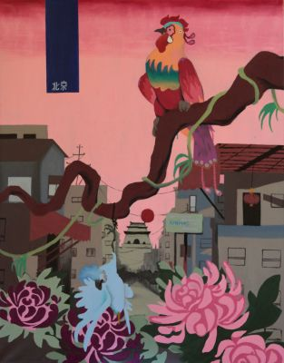 Michal Korman: Early Spring morning in Beijing, oil on canvas 92x73 cm, 2013 Paris