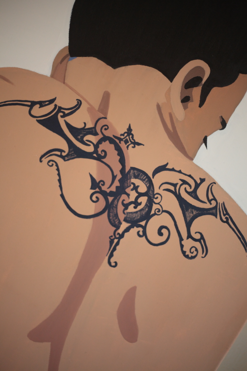 Michal Korman: Tattoo, oil on canvas ( 92x73 cm, 2013 -Paris)