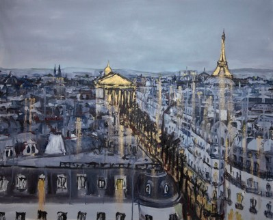 Michal Korman: Paris,oil on canvas 80x100 cm, 2013 Paris