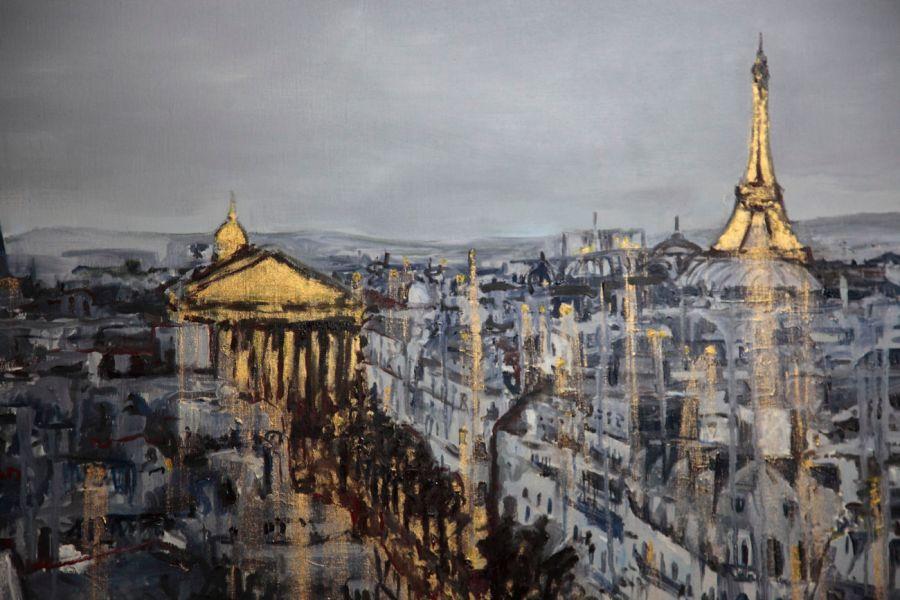 Michal Korman: Paris,oil on canvas 80x100 cm, 2013 Paris