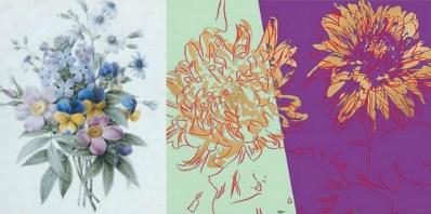 Ernestine Panckoucke - Bouquet de fleurs & Andy Warhol Kiku flowers
