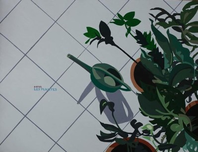 Michal Korman: Les Plantes, oil on canvas 89x116,5 cm - Paris 2009