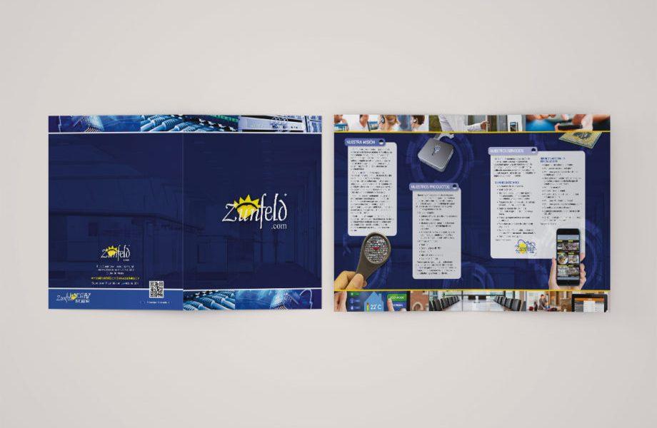 Zunfeld, Servicio telecomunicaione y Automatizacion Folder Branding